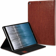 Book-Style Smart Leather Folio Case with Auto Sleep / Wake for iPad 9.7 inch Screen - Brown