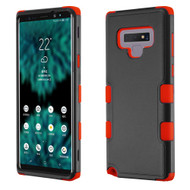 Military Grade Certified TUFF Hybrid Armor Case for Samsung Galaxy Note 9 - Black Red