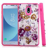 Tough Anti-Shock Hybrid Case for Samsung Galaxy J3 (2018) - Violet Flowers