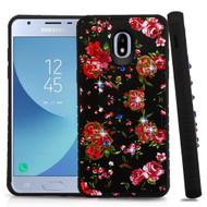 Tough Anti-Shock Hybrid Case for Samsung Galaxy J3 (2018) - Romantic Love Flowers