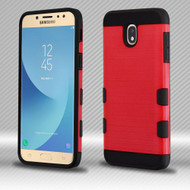 Military Grade Certified TUFF Trooper Dual Layer Hybrid Case for Samsung Galaxy J7 (2018) - Red