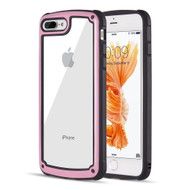 Tough Shield Snap-on Transparent Case for iPhone 8 Plus / 7 Plus - Pink
