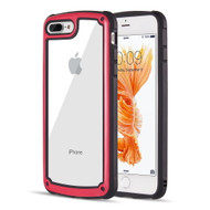 Tough Shield Snap-on Transparent Case for iPhone 8 Plus / 7 Plus - Red