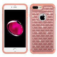 TotalDefense Diamond Hybrid Case for iPhone 8 Plus / 7 Plus - Rose Gold