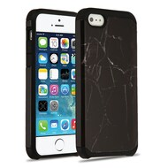 Hybrid Multi-Layer Armor Case for iPhone SE / 5S / 5 - Marble Black
