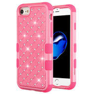Military Grade Certified TUFF Diamond Hybrid Armor Case for iPhone 8 / 7 / 6S / 6 - Pink