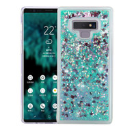 Quicksand Glitter Transparent Case for Samsung Galaxy Note 9 - Teal Green