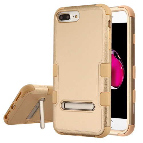 Military Grade Certified TUFF Hybrid Armor Case with Stand for iPhone 8 Plus / 7 Plus / 6S Plus / 6 Plus - Gold