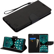 Diary Leather Wallet Stand Case for Samsung Galaxy Note 9 - Black