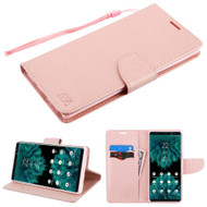 Diary Leather Wallet Stand Case for Samsung Galaxy Note 9 - Rose Gold