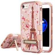 Military Grade Certified TUFF Image Hybrid Armor Case with Stand for iPhone 8 / 7 / 6S / 6 - Paris in Full Bloom