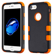 Military Grade Certified TUFF Hybrid Armor Case for iPhone 8 / 7 - Black Orange