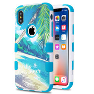 Military Grade Certified TUFF Hybrid Image Armor Case for iPhone X - Palm Beach