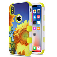 Military Grade Certified TUFF Hybrid Image Armor Case for iPhone X - Sunflower Field