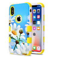 Military Grade Certified TUFF Hybrid Image Armor Case for iPhone X - Daisy Field