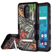Military Grade Certified TUFF Hybrid Image Armor Case with Stand for LG Stylo 4 - Oak Leaves Hunting Camouflage
