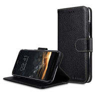 *SALE* Genuine Cowhide Leather Wallet with Card Slot and Magnetic Flap for iPhone X - Black