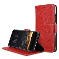 *SALE* Genuine Cowhide Leather Wallet with Card Slot and Magnetic Flap for iPhone XS / X - Red