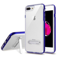 Bumper Shield Clear Transparent TPU Case with Magnetic Kickstand for iPhone 8 Plus / 7 Plus - Blue