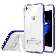 Bumper Shield Clear Transparent TPU Case with Magnetic Kickstand for iPhone 8 / 7 - Blue