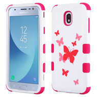 Military Grade Certified TUFF Image Hybrid Armor Case for Samsung Galaxy J3 (2018) - Butterfly Dancing