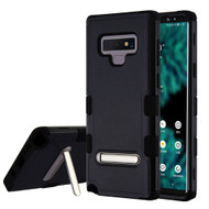 Military Grade Certified TUFF Hybrid Armor Case with Stand for Samsung Galaxy Note 9 - Black