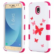 Military Grade Certified TUFF Image Hybrid Armor Case for Samsung Galaxy J7 (2018) - Butterfly Dancing