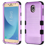 Military Grade Certified Brushed TUFF Hybrid Armor Case for Samsung Galaxy J7 (2018) - Purple