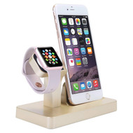 *Sale* 2-IN-1 Powered Dock Stand Charging Station for Apple Watch and iPhone - Gold