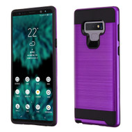 Brushed Coated Hybrid Armor Case for Samsung Galaxy Note 9 - Purple