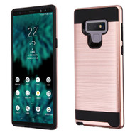 Brushed Coated Hybrid Armor Case for Samsung Galaxy Note 9 - Rose Gold