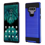 Brushed Coated Hybrid Armor Case for Samsung Galaxy Note 9 - Blue