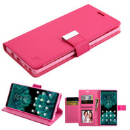 Essential Leather Wallet Stand Case for Samsung Galaxy Note 9 - Hot Pink