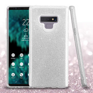 Full Glitter Hybrid Protective Case for Samsung Galaxy Note 9 - Silver