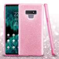 Full Glitter Hybrid Protective Case for Samsung Galaxy Note 9 - Pink