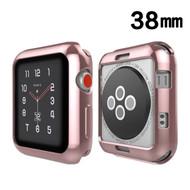 Electroplating Bumper Case for Apple Watch 38mm - Rose Gold
