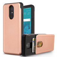 Under Cover Card Slot Case for LG Stylo 4 - Rose Gold