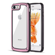 Tough Shield Snap-on Transparent Case for iPhone 8 / 7 - Pink