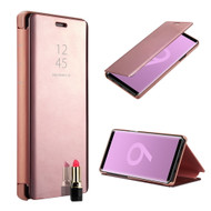 Clear View Smart Standing Case with Auto Sleep / Wake for Samsung Galaxy Note 9 - Rose Gold