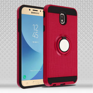 Sports Hybrid Armor Case with Smart Loop Ring Holder for Samsung Galaxy J7 (2018) - Red