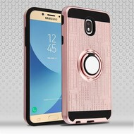 Sports Hybrid Armor Case with Smart Loop Ring Holder for Samsung Galaxy J7 (2018) - Rose Gold