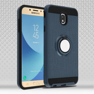Sports Hybrid Armor Case with Smart Loop Ring Holder for Samsung Galaxy J7 (2018) - Ink Blue