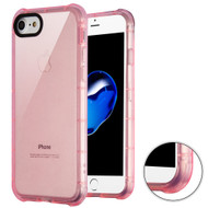 Air Sacs Transparent Anti-Shock TPU Case for iPhone 8 / 7 - Pink