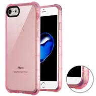 Air Sacs Transparent Anti-Shock TPU Case for iPhone 8 / 7 - Pink