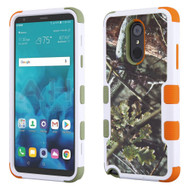 Military Grade Certified TUFF Image Hybrid Armor Case for LG Stylo 4 - English Oak Hunting Camouflage