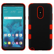 Military Grade Certified TUFF Hybrid Armor Case for LG Stylo 4 - Black Red