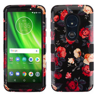 Military Grade Certified TUFF Hybrid Armor Case for Motorola Moto G6 Play / G6 Forge - Red and White Roses