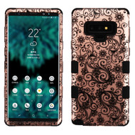 Military Grade Certified TUFF Image Hybrid Armor Case for Samsung Galaxy Note 9 - Four Leaves Clover Rose Gold