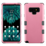 Military Grade Certified TUFF Hybrid Armor Case for Samsung Galaxy Note 9 - Pearl Pink Iron Grey