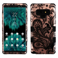 Military Grade Certified TUFF Image Hybrid Armor Case for Samsung Galaxy Note 9 - Phoenix Flower Rose Gold